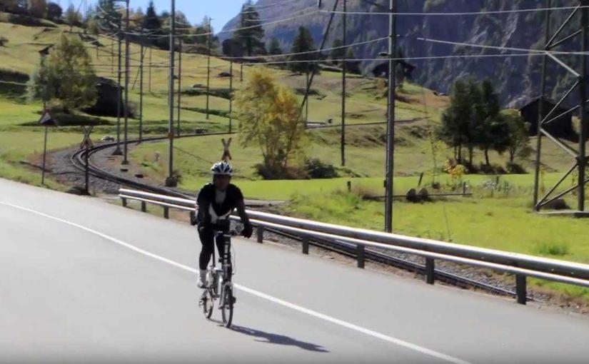 スイス 鉄道と自転車の旅 Day5:(2)ツェルマットからフィスプまで40kmダウンヒル