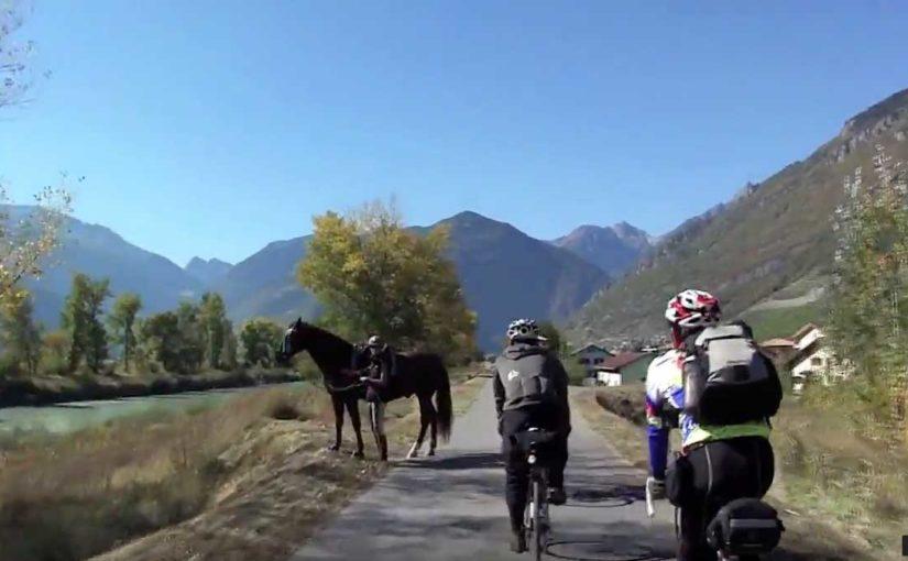 スイス 鉄道と自転車の旅 Day6:(1)ローザンヌへ130km シエレ〜モントルー