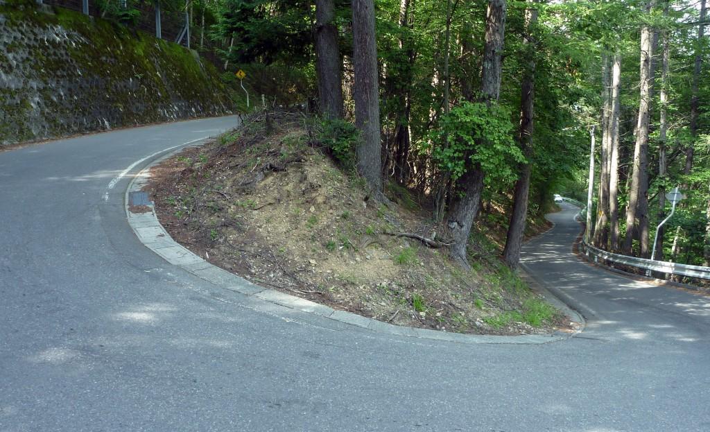 分杭峠への上り道
