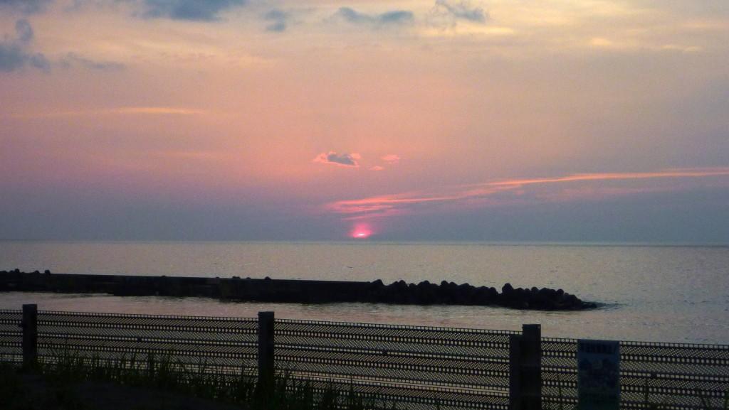 6:17PM@直江津船見公園の日没