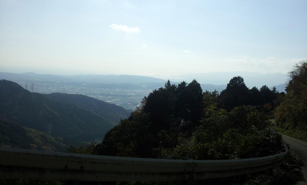 表丹沢林道からの眺め