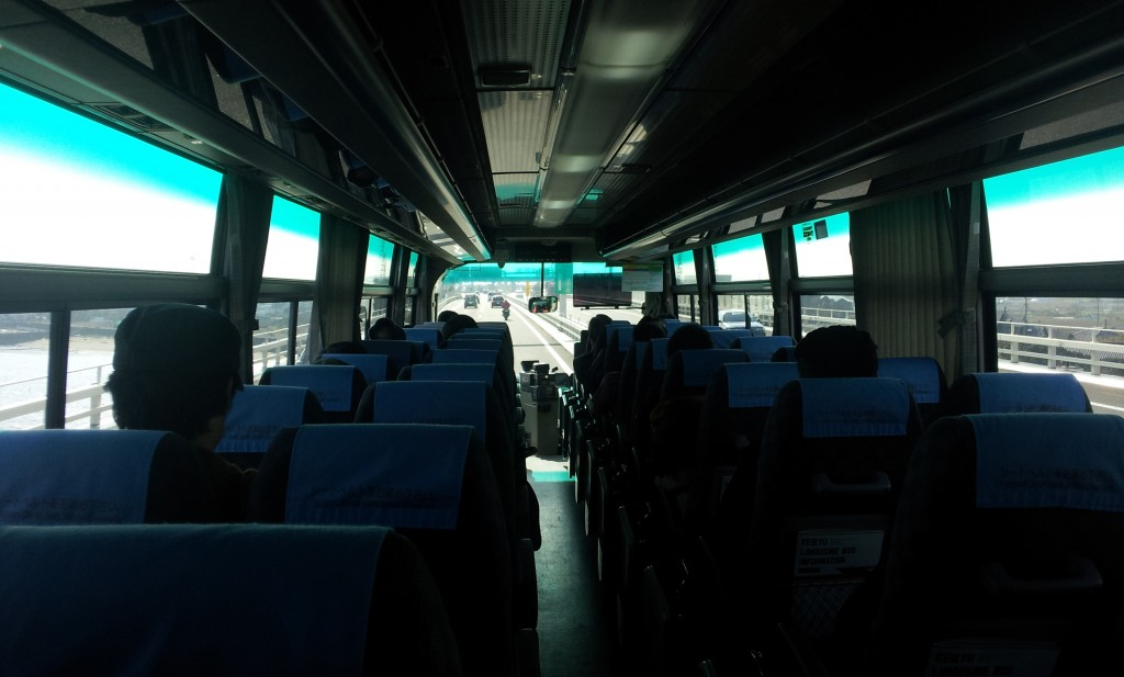 京急アクアラインバスの車内