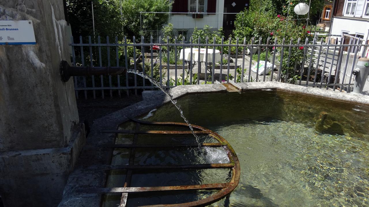 マルグレン(MARGLEN)とチンゲルグエット(TSCHINGELGUET)の間にあった水飲み場