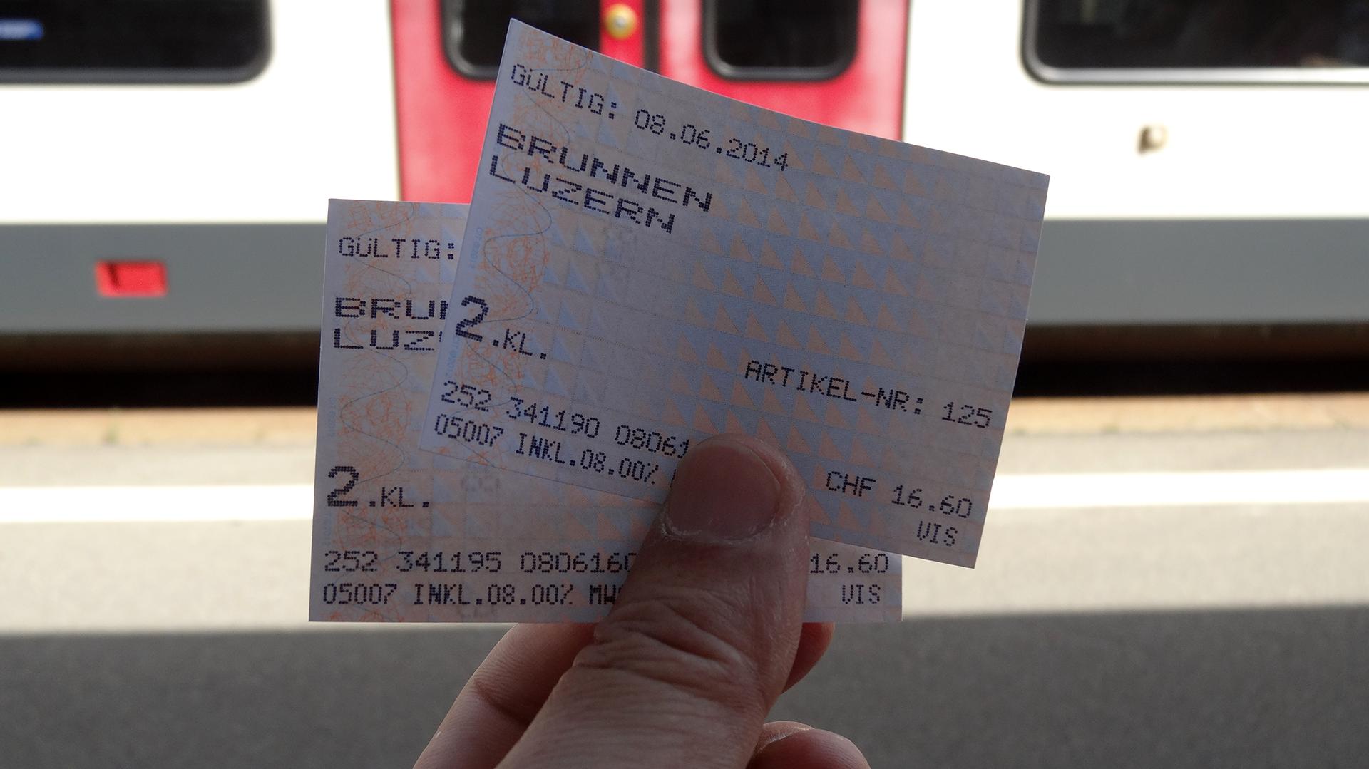 SBBのチケット