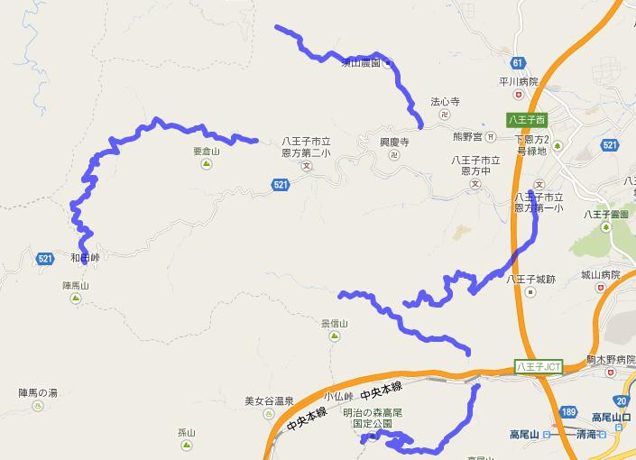 高尾山周辺の林道まとめ(自転車ルート)