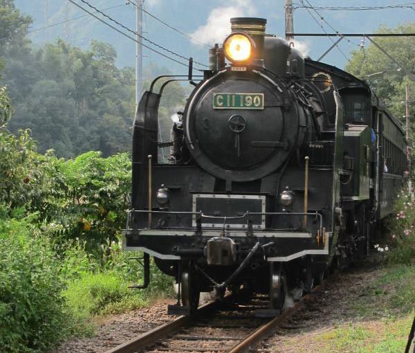 大井川鉄道のSLと並走するライド  92km 1613m