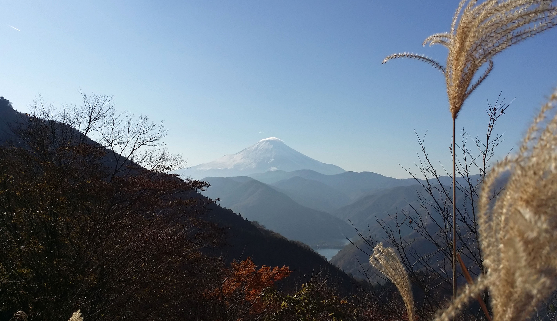 富士山と丹沢湖