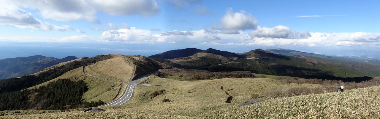 クリックで拡大します 仁科峠からの眺望(西伊豆スカイライン)