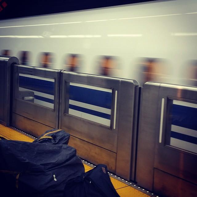 品川駅から新幹線輪行