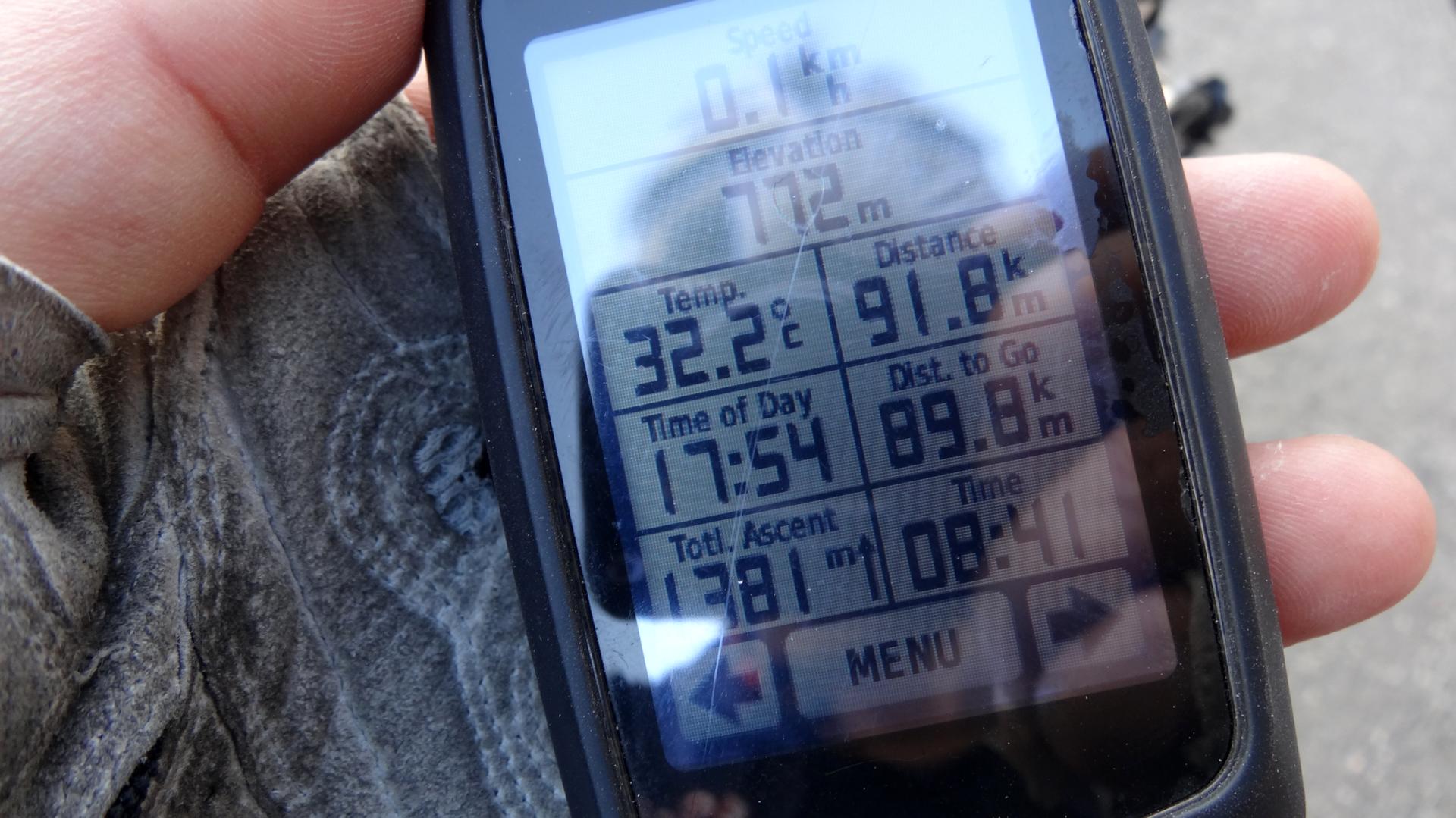 走行距離:91.8km 獲得標高:1,381m