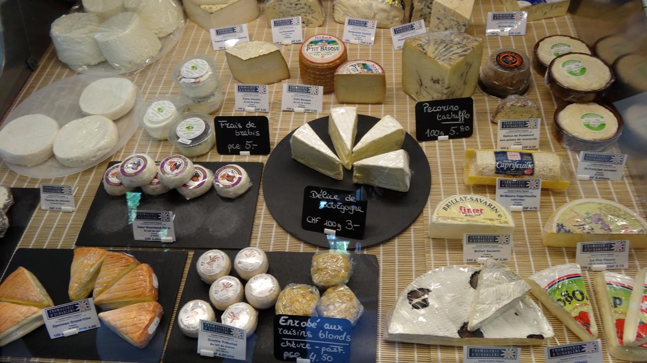 スイスのチーズは種類が豊富
