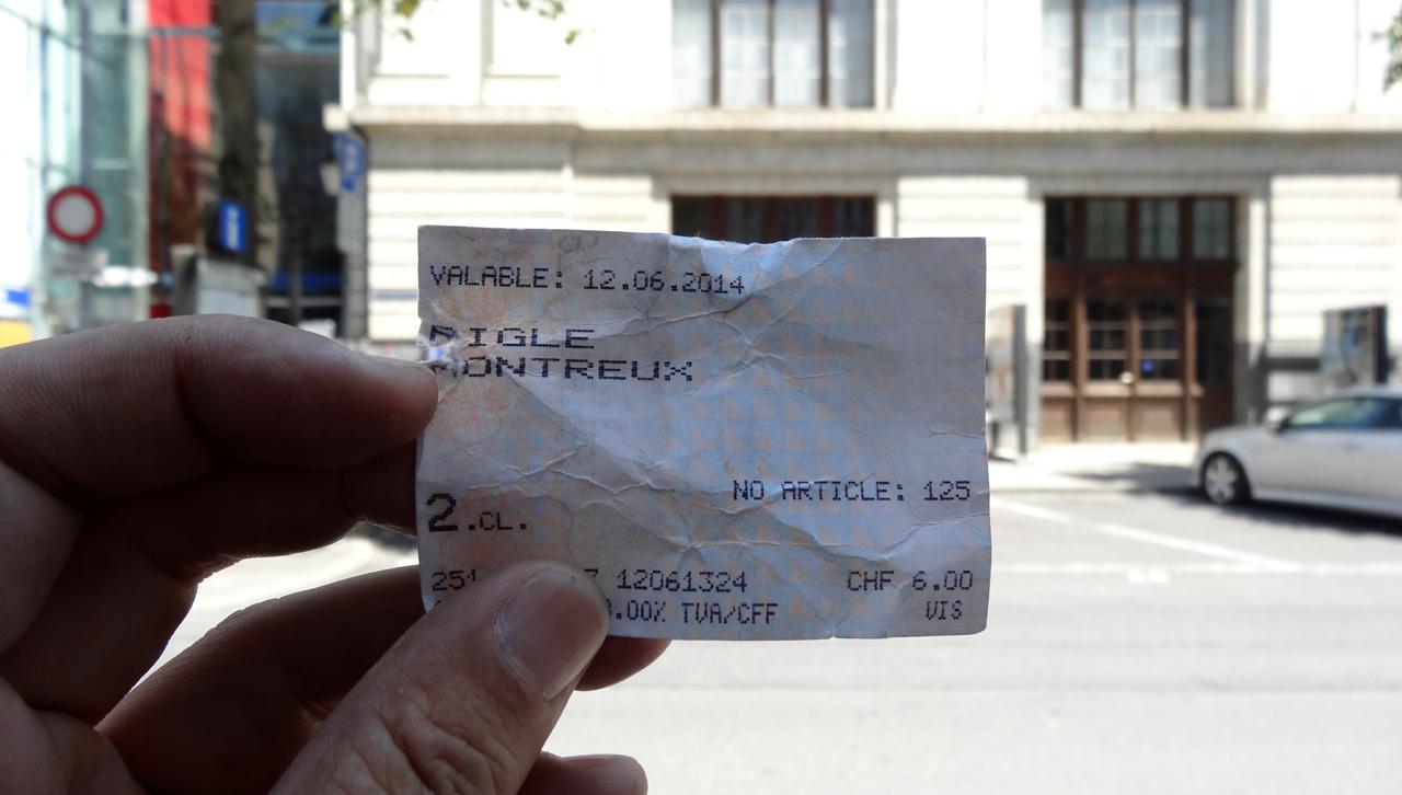 14:00 モントルー到着