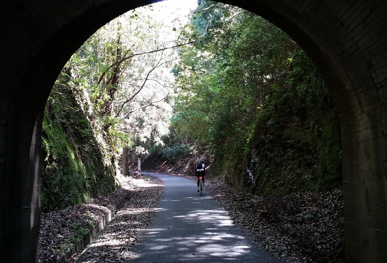 林道 淵ケ沢奥米線のトンネル
