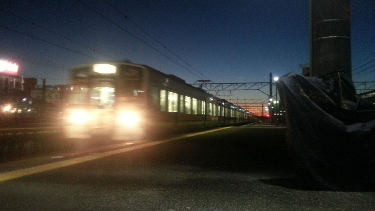 東海道線に乗り換え