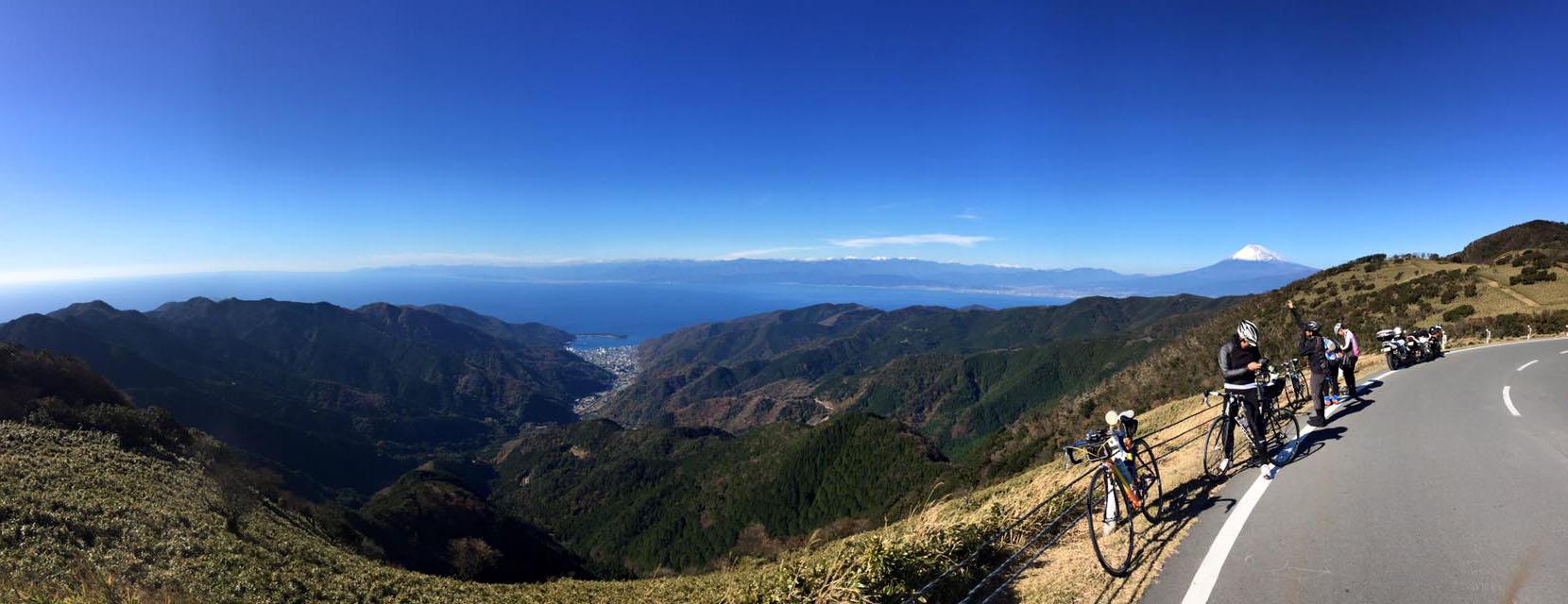 達磨山からの眺望(パノラマ写真)しんさん撮影 クイックで拡大