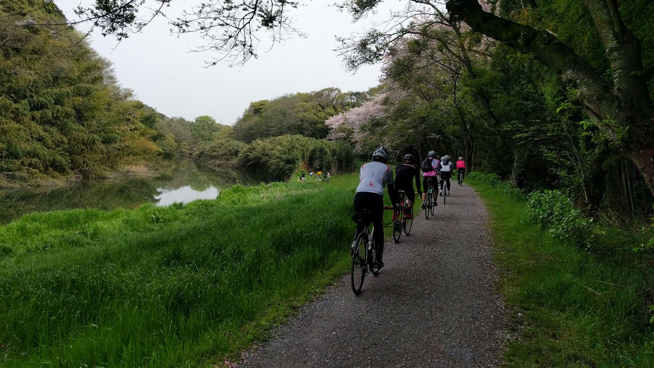 花見川サイクリングロード 鷹の台カンツリー倶楽部の裏手
