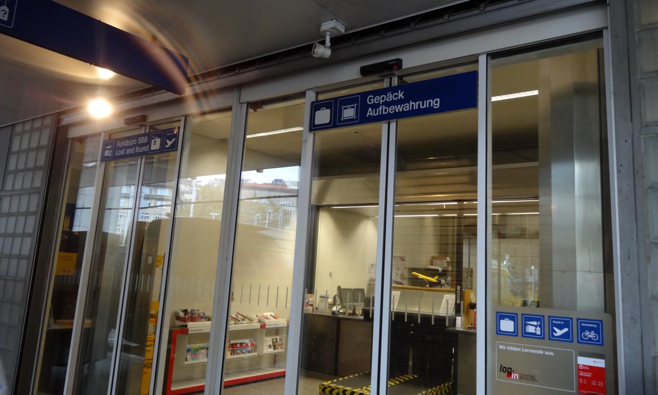 チューリッヒ駅にあるラゲージサービスの窓口