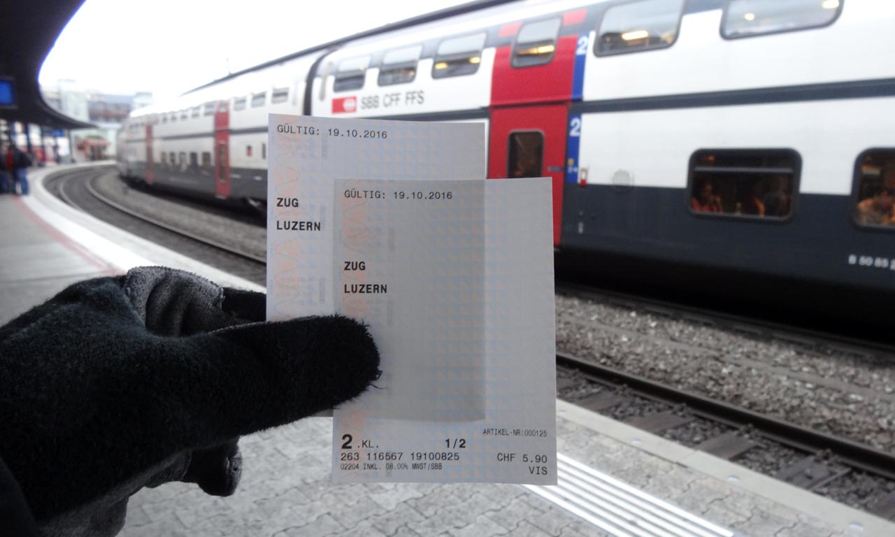 乗車チケットとバイクチケット